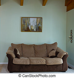 Living room interior - Living room with furnishings in a new...