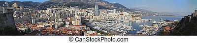 Port of Monaco - The Hercule port of Monaco day panorama