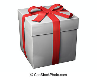 gift box - An isolated gift box on white background