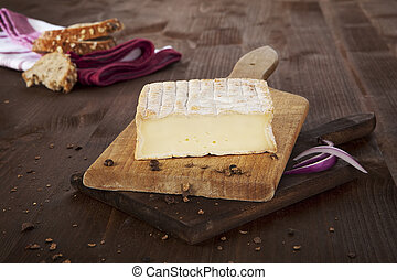Cheese background. Agricultural vintage style concept.