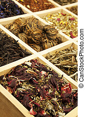 Tea collection - Organic natural tea collection in wooden...