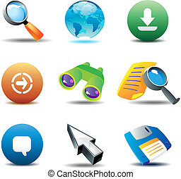 Icons for web-browsing. Vector illustration.