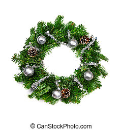 christmas chaplet isolated on white