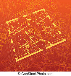 Abstract architectural background. Vector illustration.