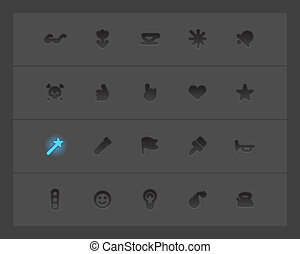 Miscellaneous interface icons Vector illustration