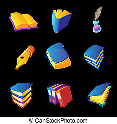 Icons for books and writing