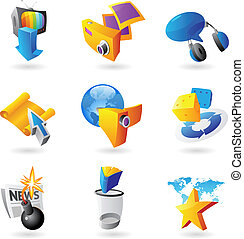 Icons for leisure, travel, sport and arts Vector...