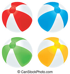 Beach ball basic - A selection of beach balls in basic...