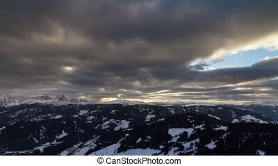 Dolomites sunset clouds Time lapse - Beautiful time lapse of...