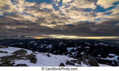 Dolomites sunset Time lapse - Beautiful time lapse of a...