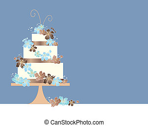 blossom cake - an illustration of a three tier wedding cake...