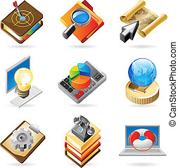 Icon concepts for work - Vector concept icons for business...