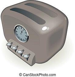 Toaster - Retro-styled toaster with timer Vector...