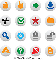Buttons for Internet - Set of internet icons for websites....