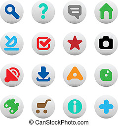 Buttons for website - Set of icons for websites. Vector...