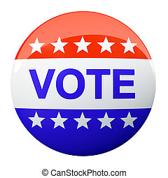 American vote button isolated on background illustration