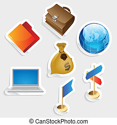 Sticker icon set for business