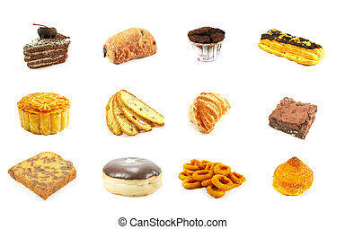 Baked Goods Series 8 Isolated on a White Background
