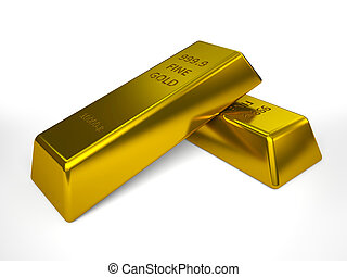 Pair of gold bars illustration
