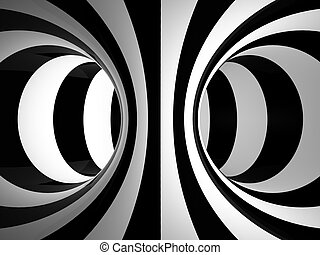 Black-and-white abstraction illustration