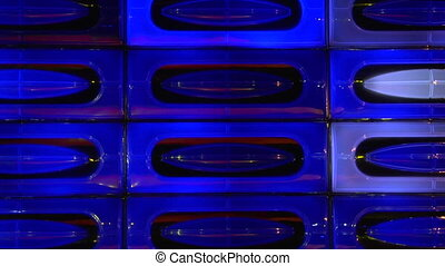 blue disco light wall loopable