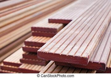 Stack of floorboards - Stack of new floor boards