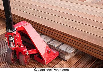 Pallet truck - Hydraulic Hand Pallet Truck. Floorboard....