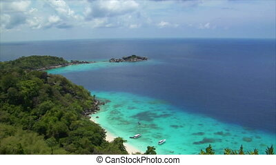 similan islands perfect beach from top