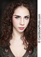 Elf beauty - Portrait of young beautiful woman with curly...
