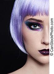 Violet wig