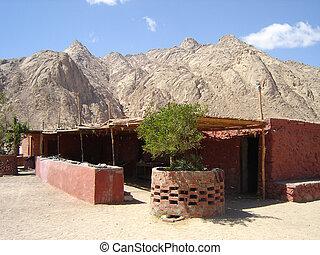 Village bedouin in desert