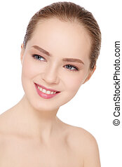 Smiling girl - Portrait of beautiful healthy smiling teen...
