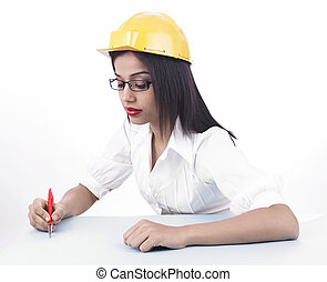 asian female engineer - young asian female engineer