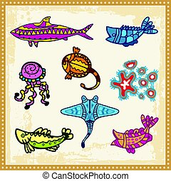 Aboriginal 02 - Ocean animals