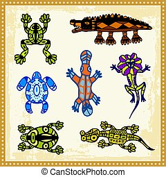 Aboriginal 05 - Animals, reptiles