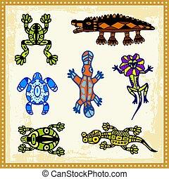 Aboriginal 05 - Animals, reptiles