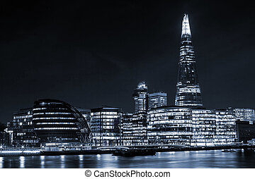 London cityscape around Southwark, on the south bank of the...