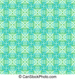 Floral ornamented pattern - Seamless vector pattern with...