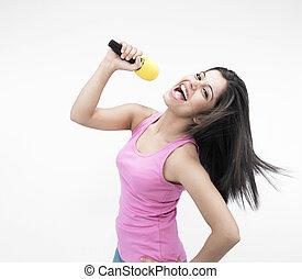 asian girl singing