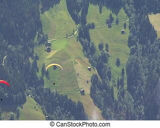 paraglider over austrian zillertal - 10353 paraglider over...