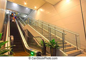 city subway elevator, Beijing