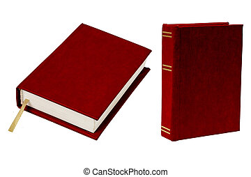 Book in rigid cover set isolated on white background