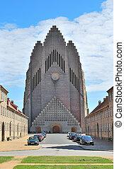 Copenhagen, Denmark. Grundtvig's Church - Copenhagen,...