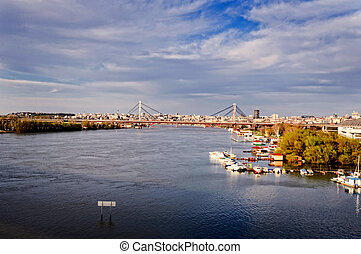 Belgrade view - View of Old Belgrade from Sava river