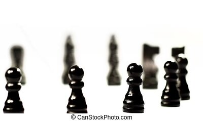 Chess set's march