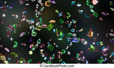 Gemstones with Clipping Path
