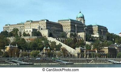 Budapest castle seen across danube - Budapest castle seen...