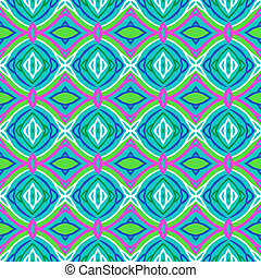 Pattern with bold stylized Indian motifs - Textured seamless...