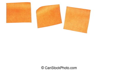 Eight yellow stickers isolated on white background. Time...