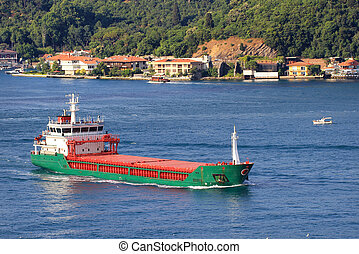 Cargo Ship sailing from Black Sea